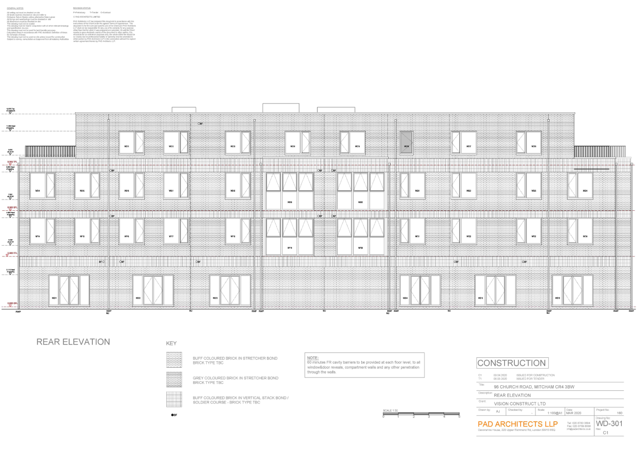 Church Road Mitcham Rear Elevation
