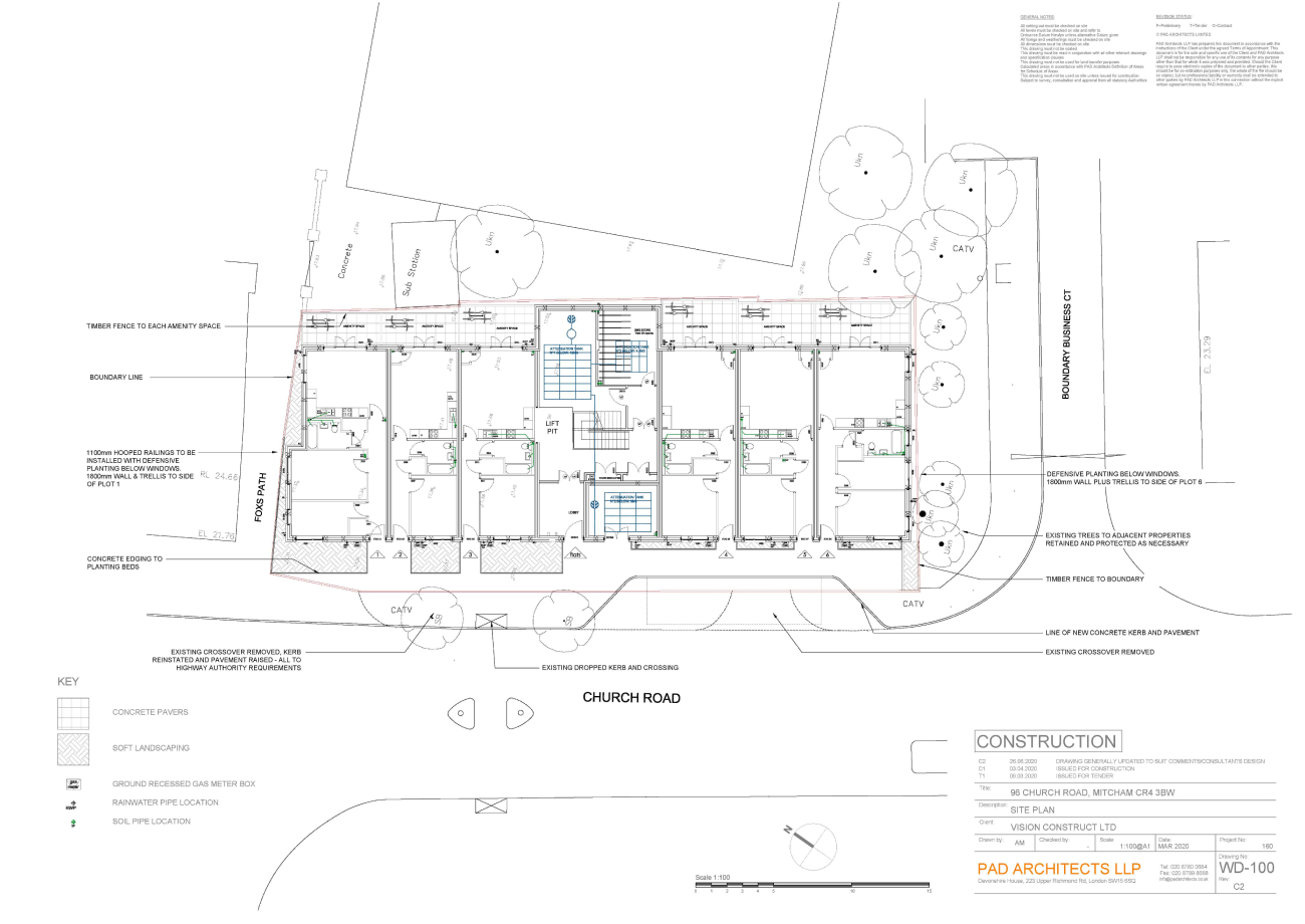 Church Road Mitcham Site Plan